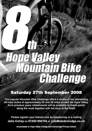 Hope Valley Mountain Bike Challenge 2008 Poster