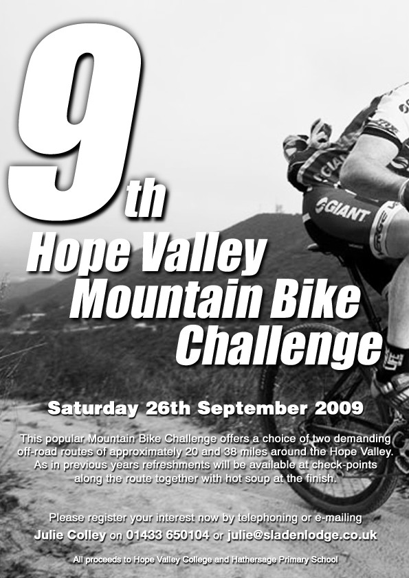 [Hope Valley Mountain Bike Challenge 2009 Poster]