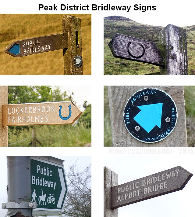 [ MTB Info Peak District Bridleway Signs ]