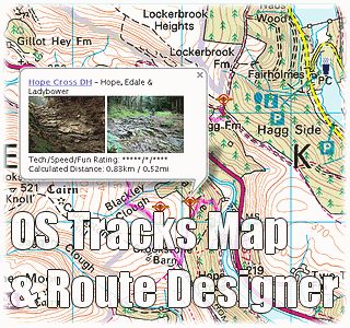 Monkeyspoon OS Map, Tracks &amp; Route Designer